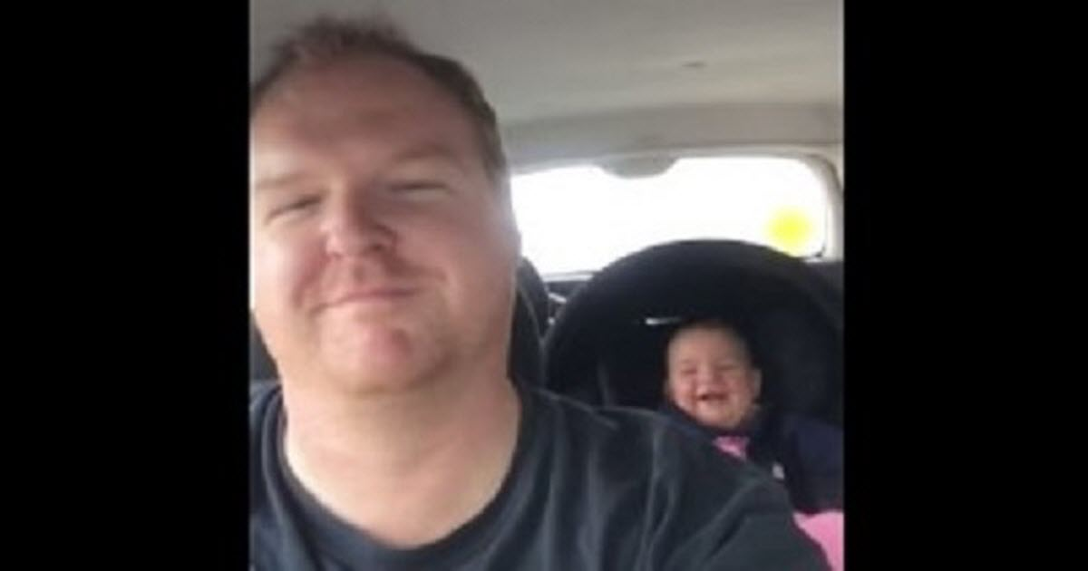 This Baby And Her Dad Have A Car Ride Routine That Will Make You Smile