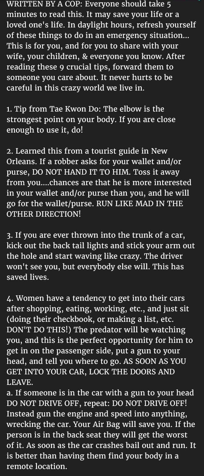 cop safety tips