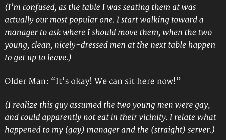 gay couple in restaurant