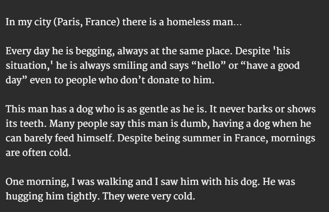 homeless man and dog b