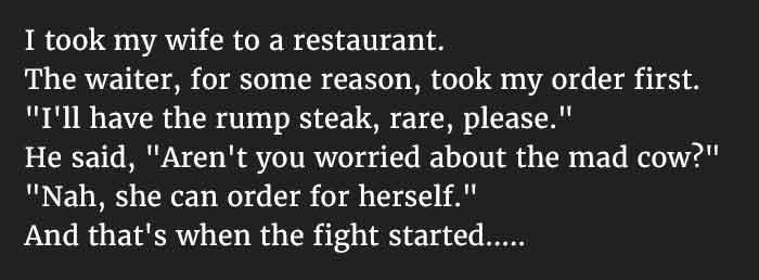 husband making wife angry