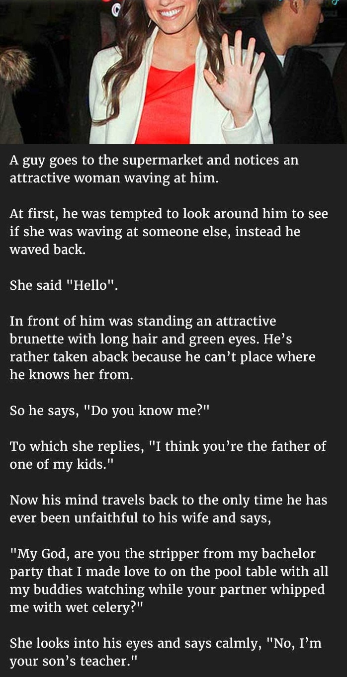 married man notices attractive woman