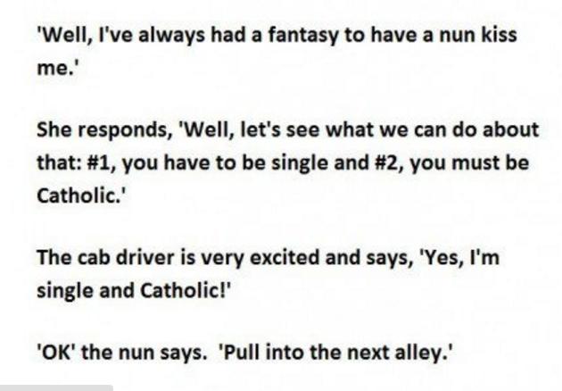 nun in a taxi 2