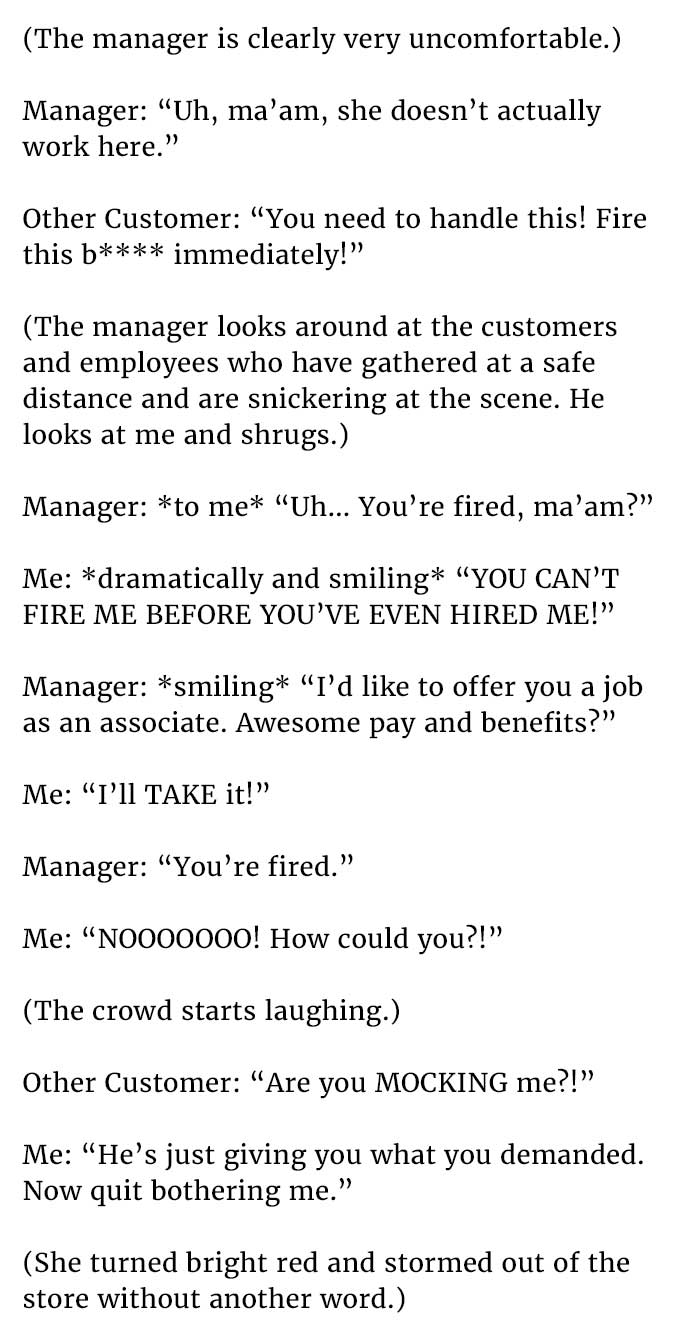 customer yelling at woman