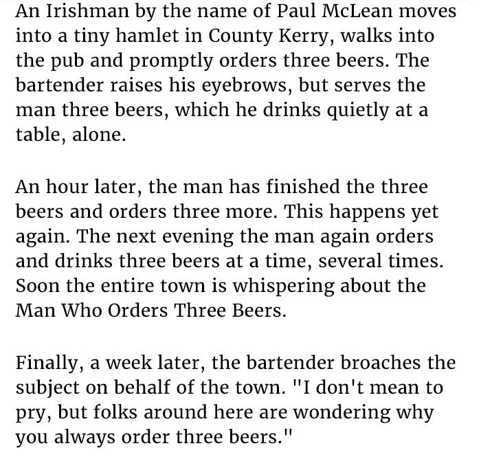 guy orders beers at bar