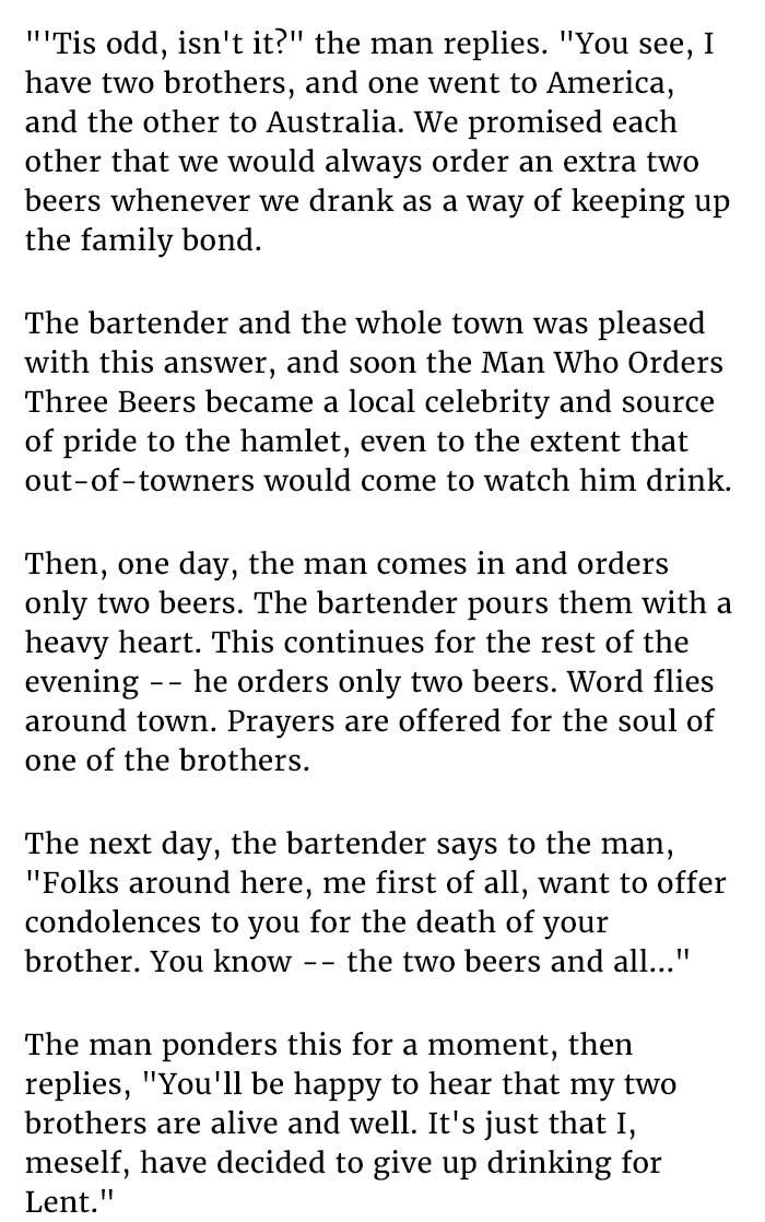 guy orders beers at bar