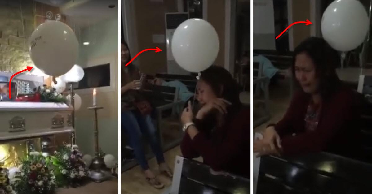 miracle balloon floats toward grieving mom