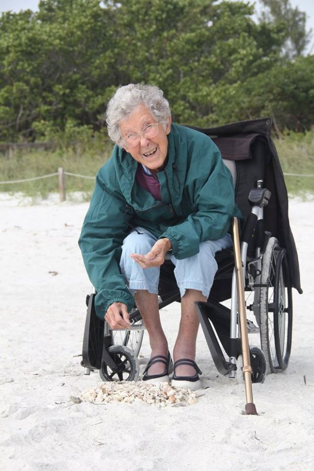 old woman rejects treatment to travel