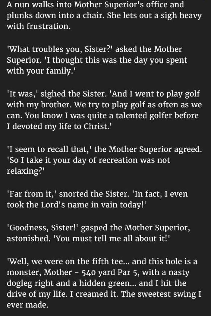 swearing nun