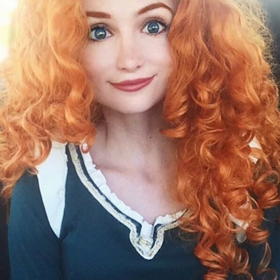 woman looks like disney princess