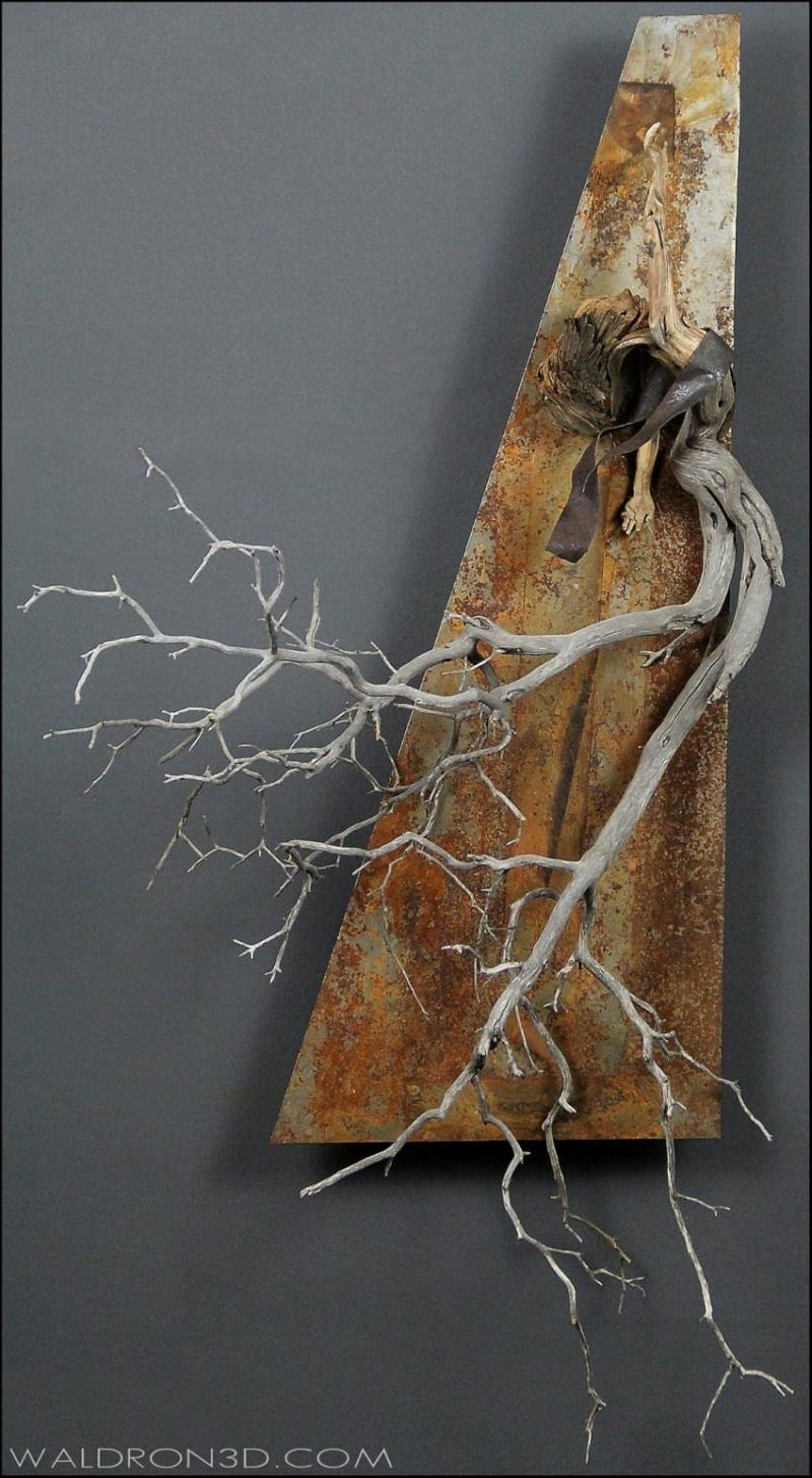 discarded scraps become sculptures
