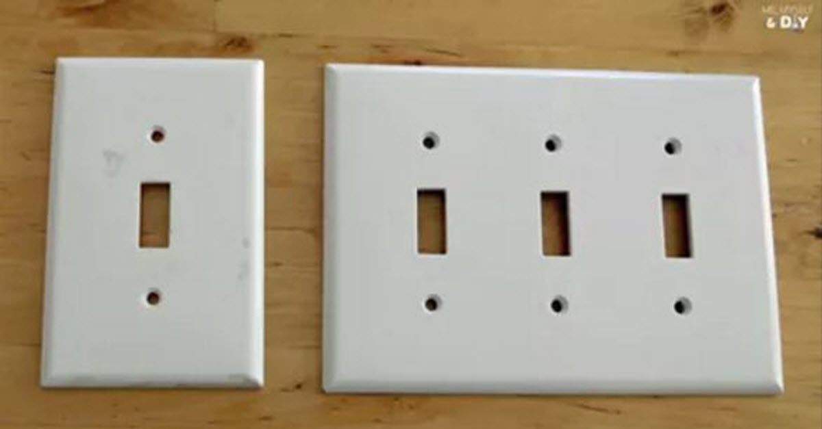 She Removes The Covers Of Her Light Switches At Home. What She Replaces Them With Is Genius...
