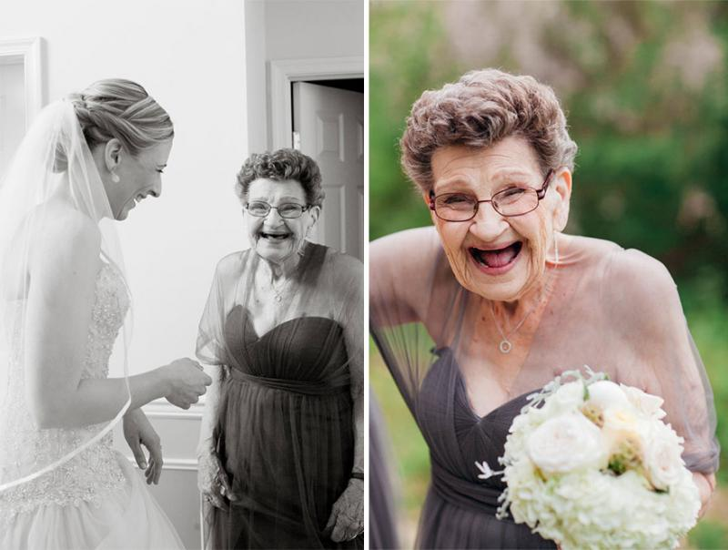 grandmother bridesmaid