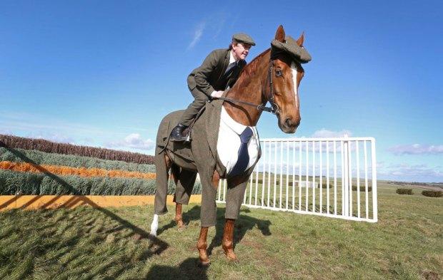horse three piece suit