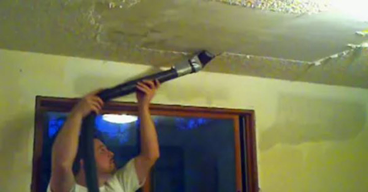 Man Wants To Remove His Popcorn Ceilings. Look What ...
