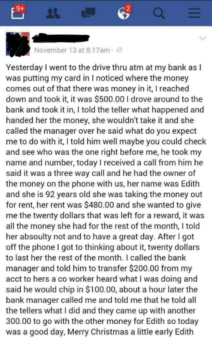 man found cash at ATM