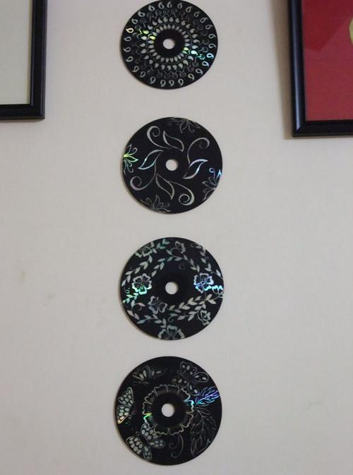 She Paints Her Old Cd S Black What She Ends Up Creating