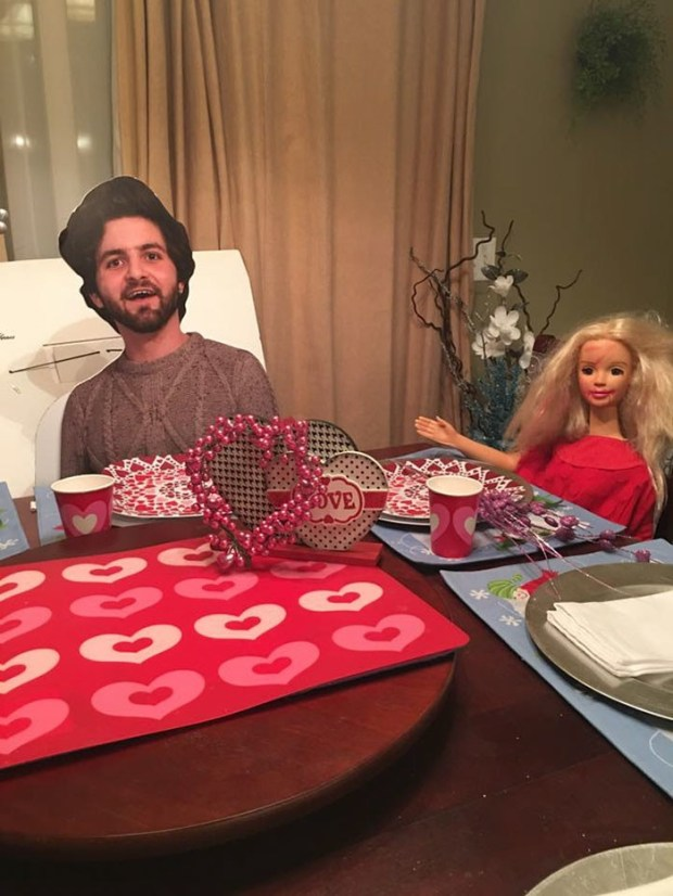 son sends cutout of himself