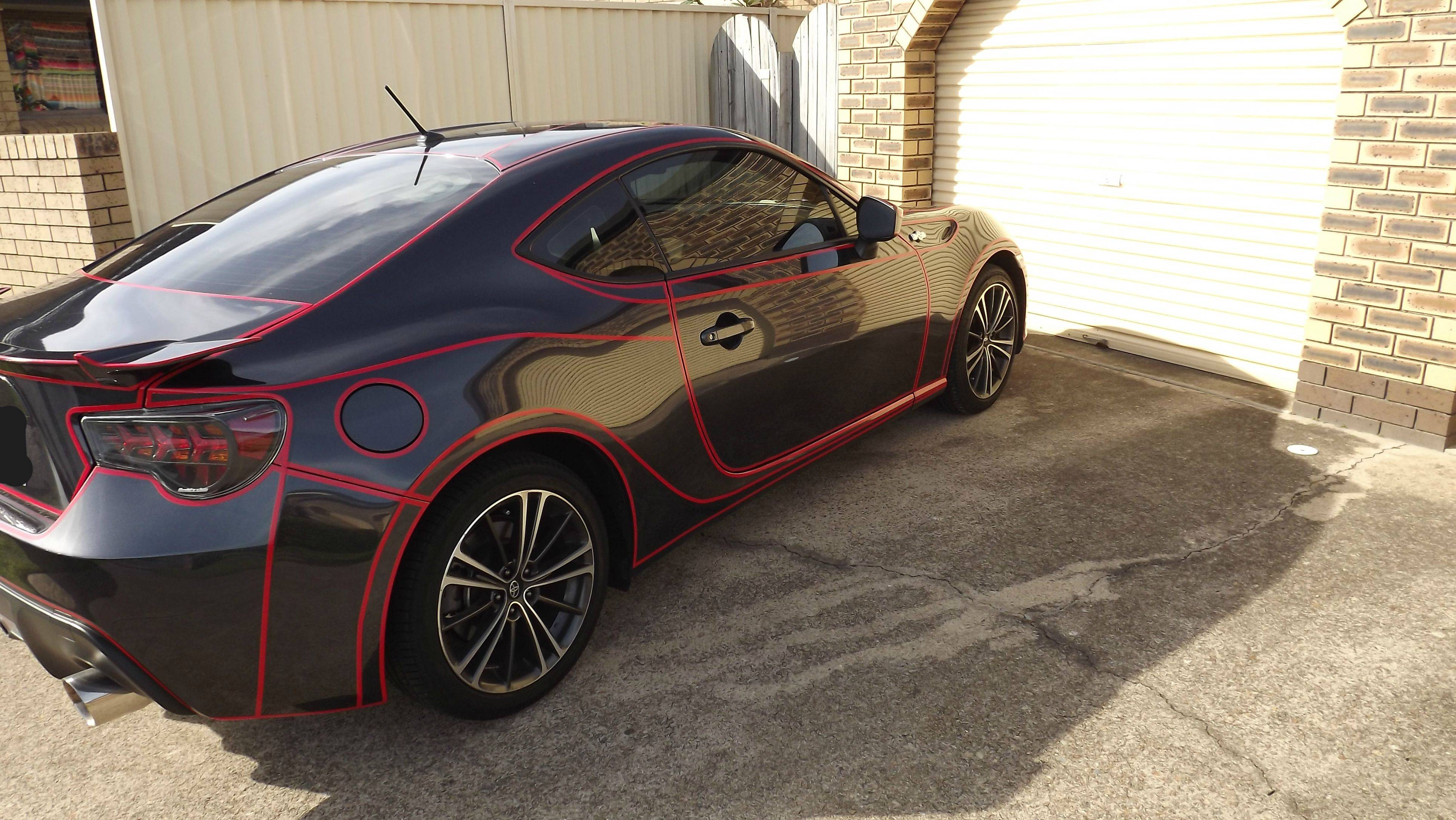 tron inspired car