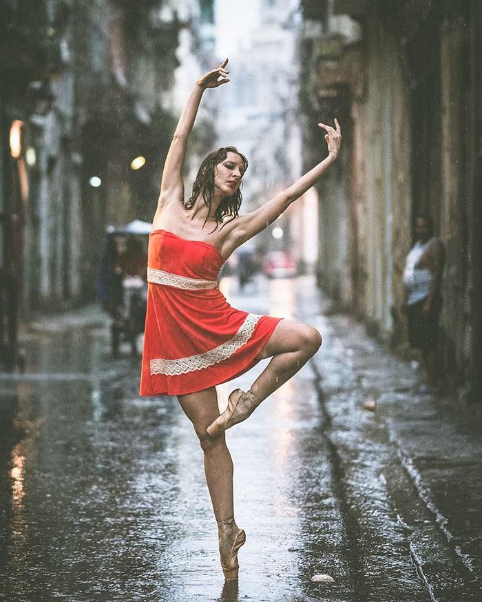 Ballet Dancer in Cuba Streets