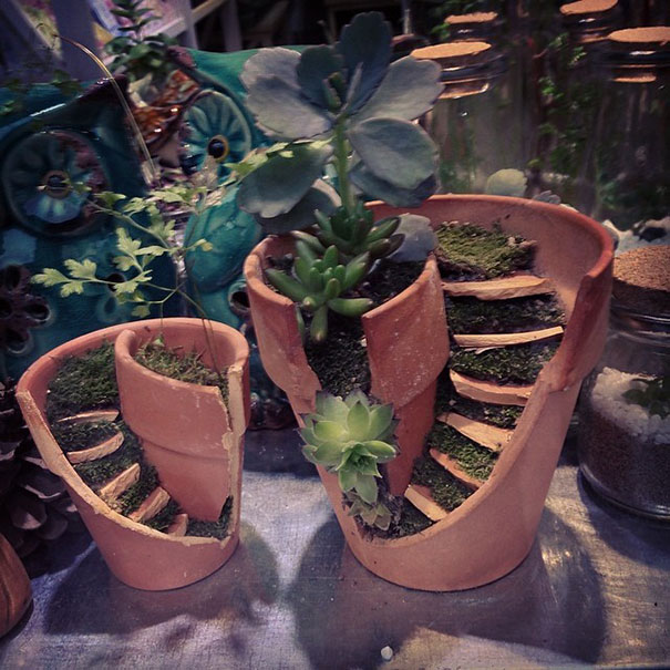 broken flower pot designs 1
