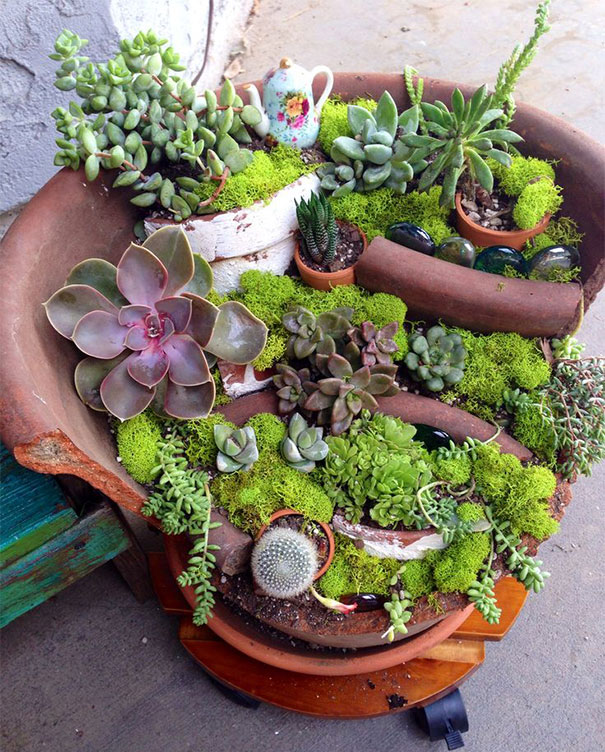 broken flower pot designs