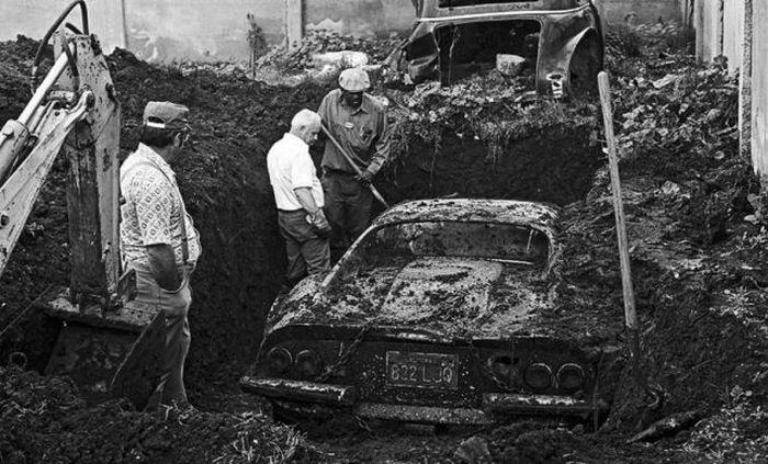 buried ferrari
