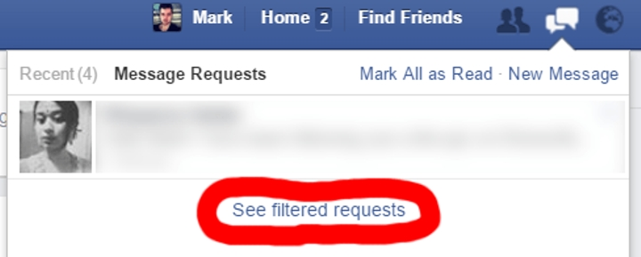 facebook secret inbox