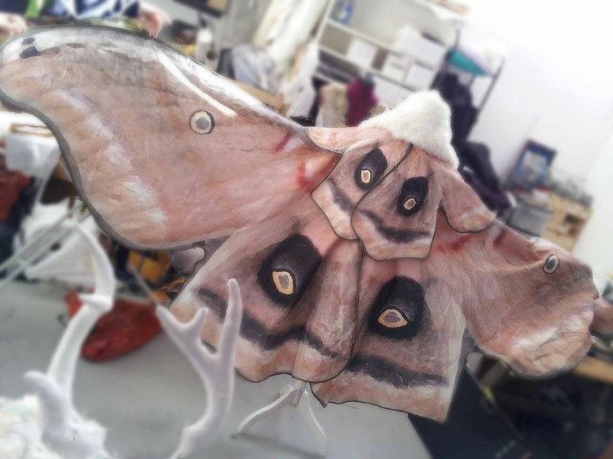 hand-drawn butterfly scarves
