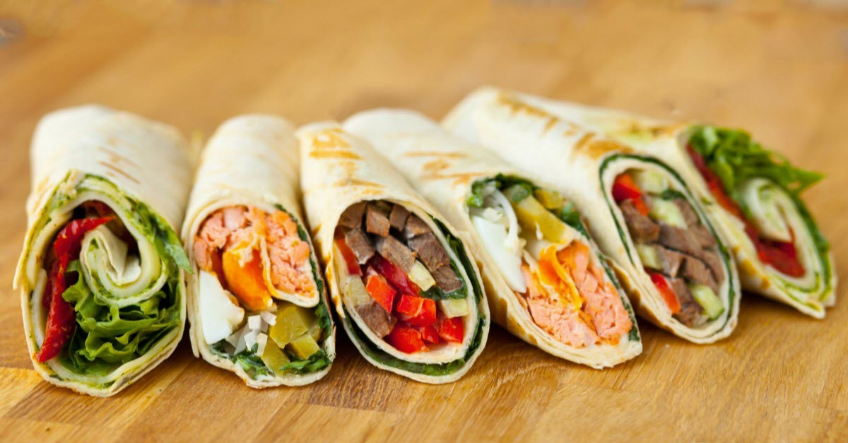 Healthy Chicken Wraps Fast Food