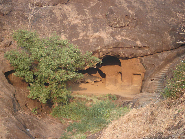 man discovers buddhist caves