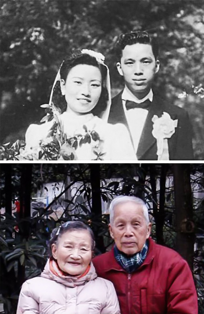old couple recreated wedding