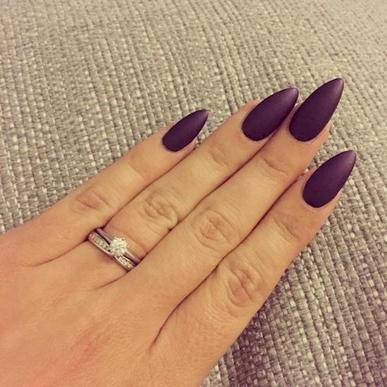 plum nail polish