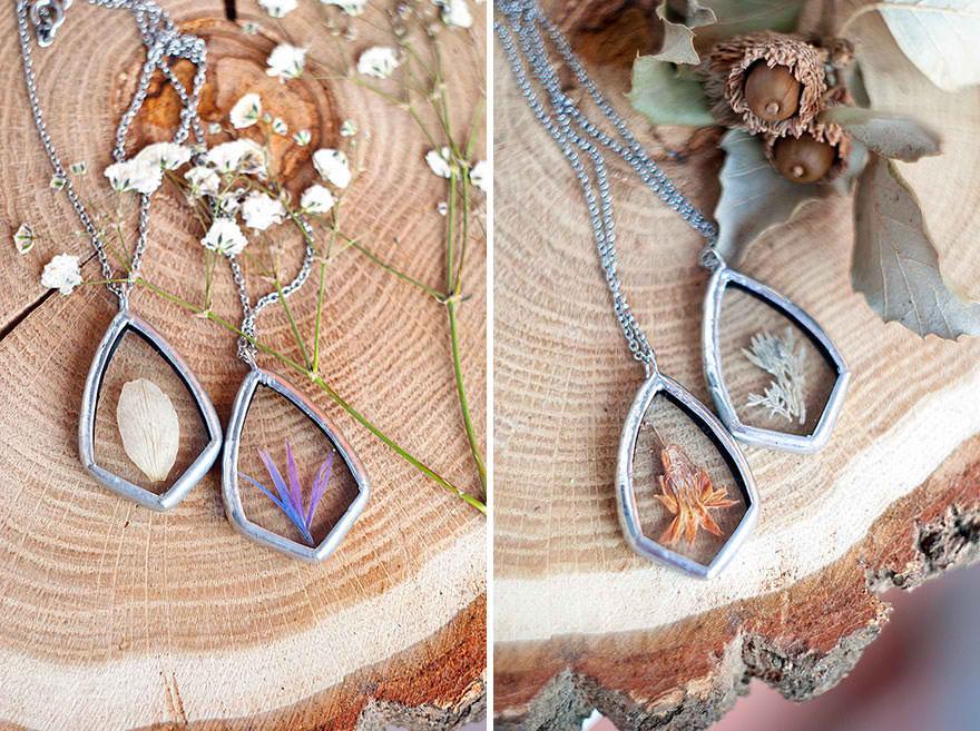 pressed glass jewelry