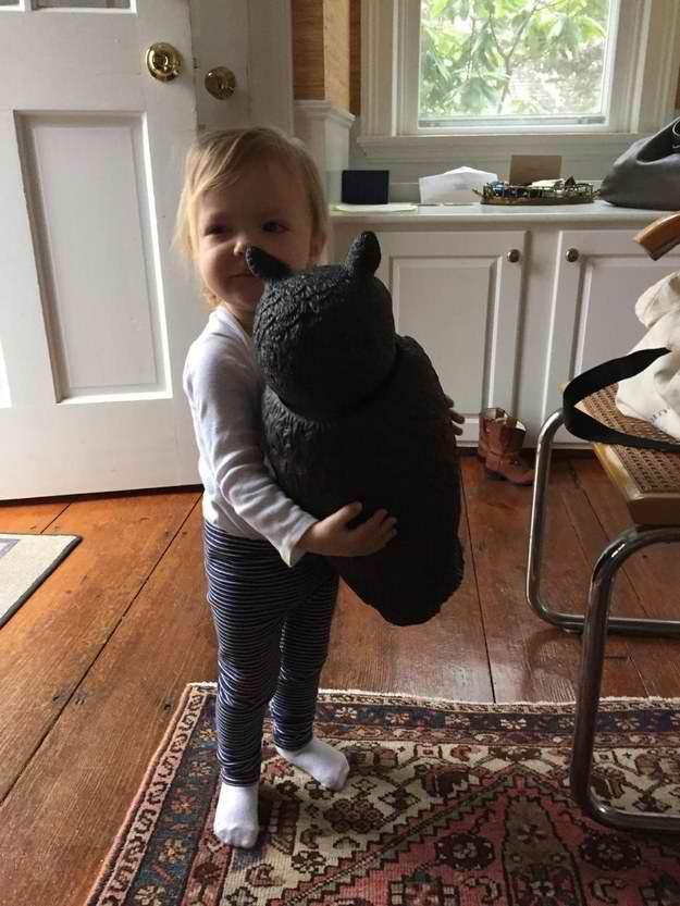 toddler bestfriend scary lawn owl