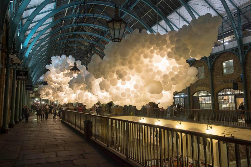 balloon clouds in london