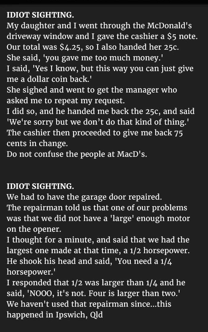 foolish conversation that shocked people