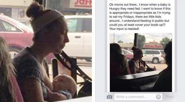 mother shamed breastfeeding in public