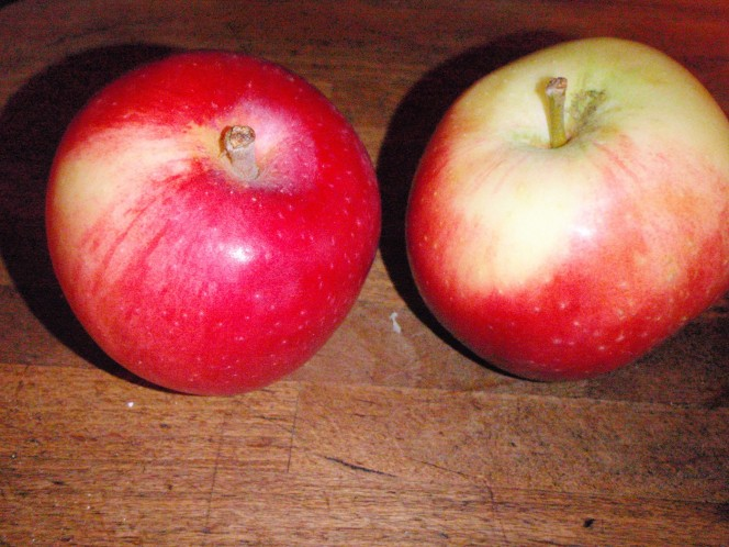 wax on apples