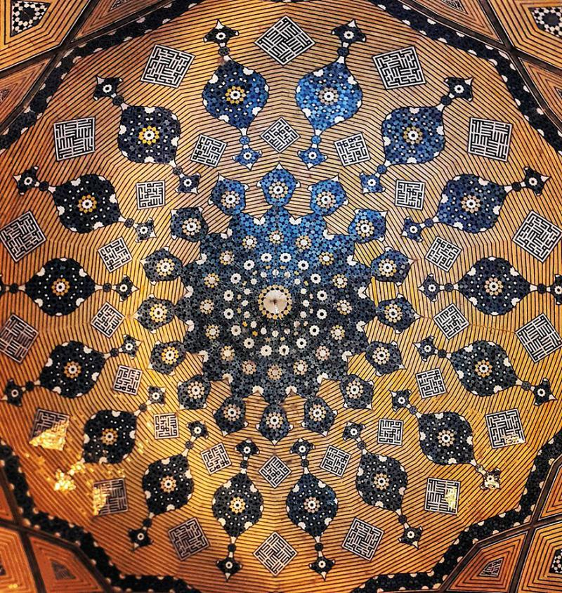 hypnotizing art of mosque's ceiling 5