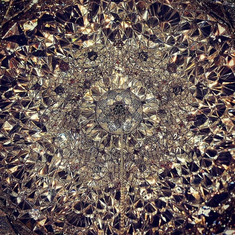 hypnotizing art of mosque's ceiling 8