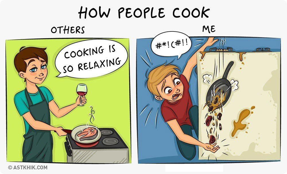 normal people vs. me