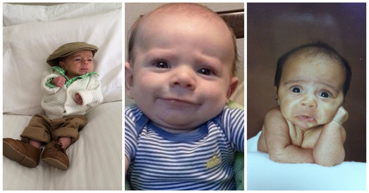 Photographs Of Silly Babies Who Look Like Old People