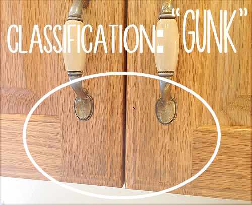 remove gunk from cabinets 1