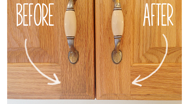 remove gunk from cabinets 6