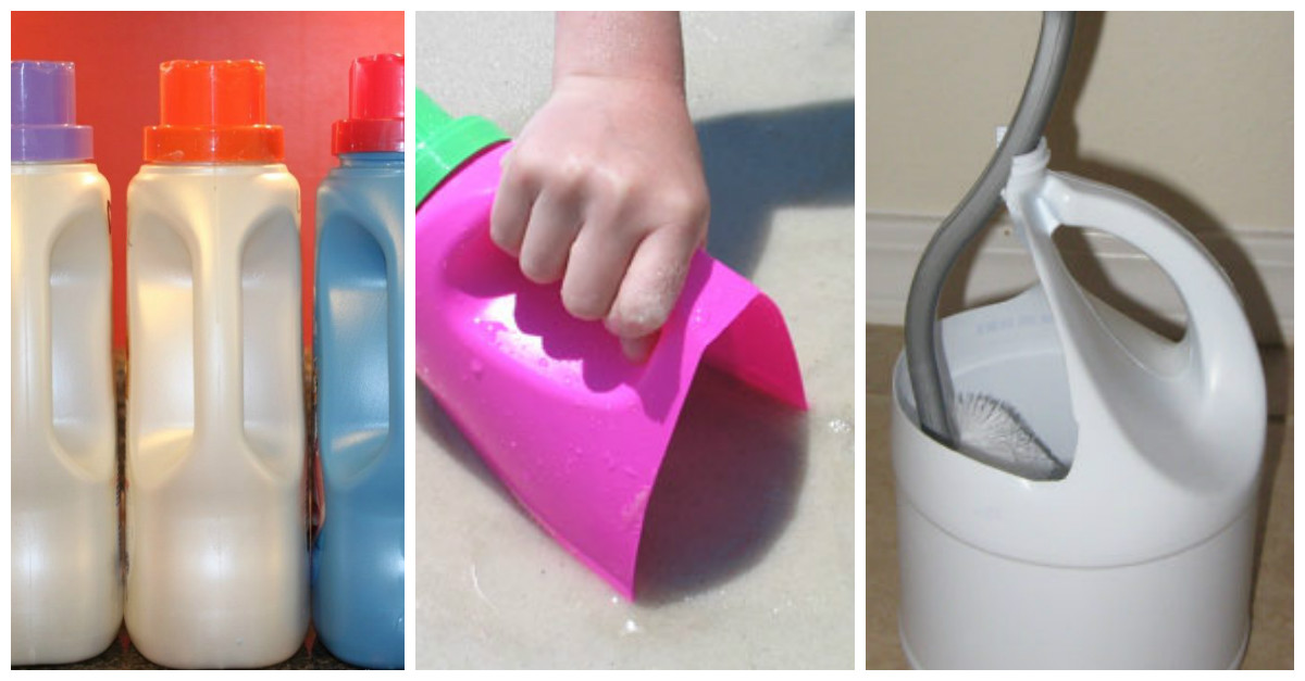 Creative Ways You Can Reuse Laundry Detergent Bottles