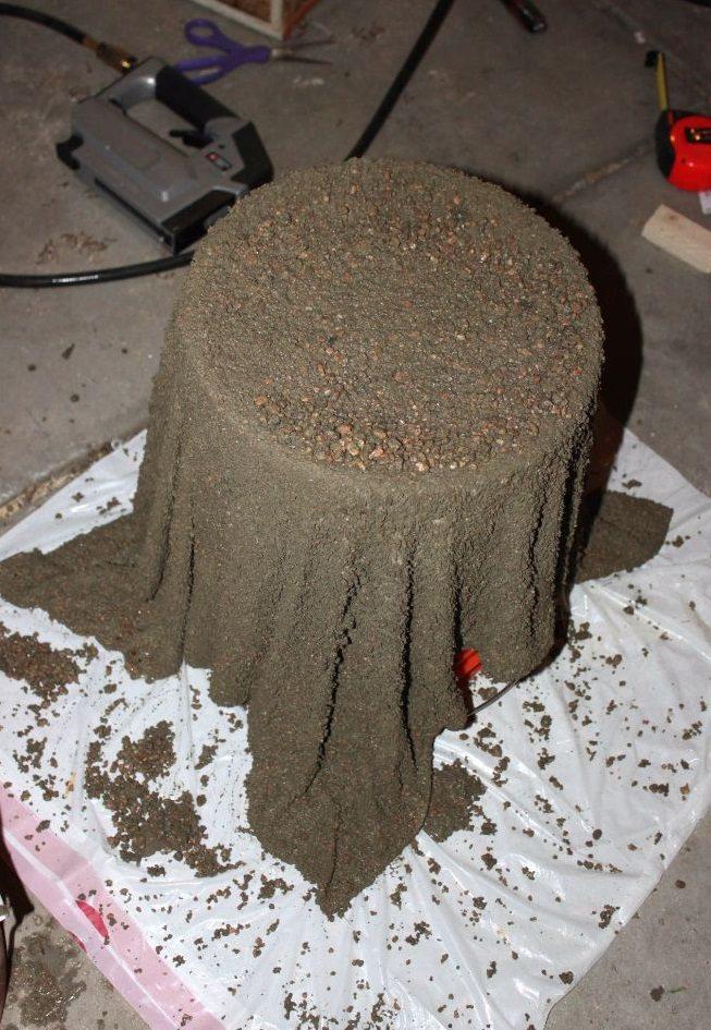 cement towel planter 2