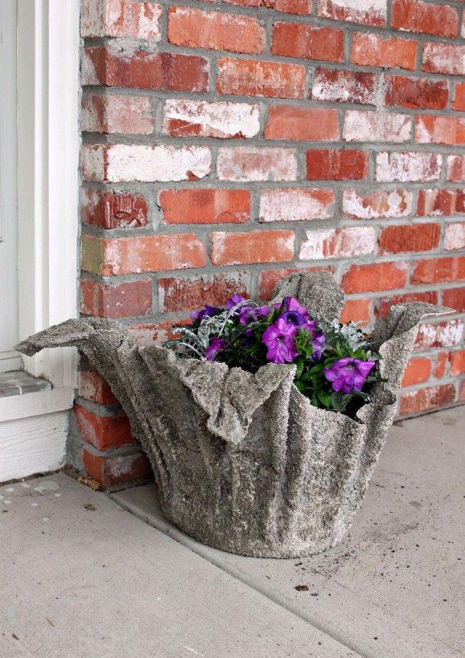 cement towel planter 3