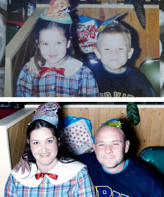couples recreating old pictures 10