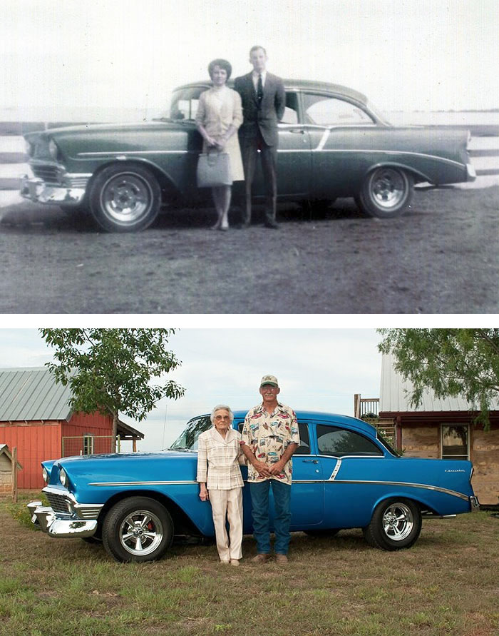 couples recreating old pictures 12
